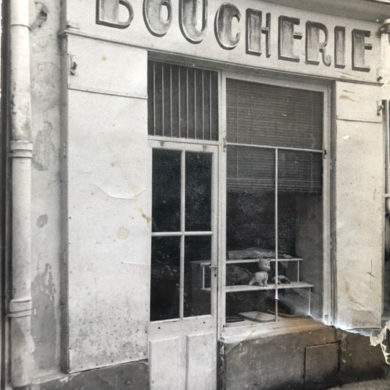 La boucherie, rue de la Valfère à Montpellie