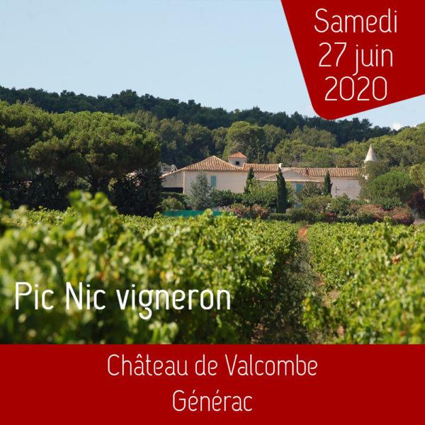 Pique-nique vigneron au Château de Valcombe